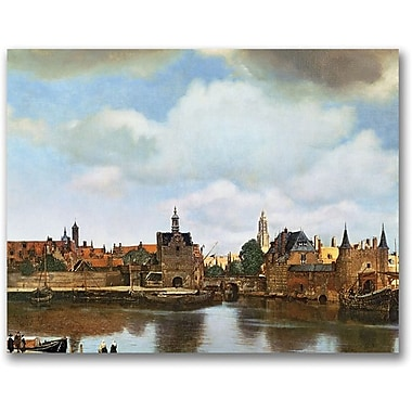 Trademark Global Jan Vermeer in.View of Delft 1660 61in. Canvas Art, 24in. x 32in.