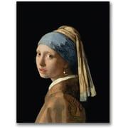 Trademark Global Jan Vermeer Girl with a Pearl Earing Canvas Art, 32 x 24