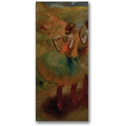 Trademark Global Edgar Degas Dancers wearing Green Skirts Canvas Art, 47 x 24