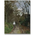 Trademark Global Claude Monet in.Path in Normandyin. Canvas Arts