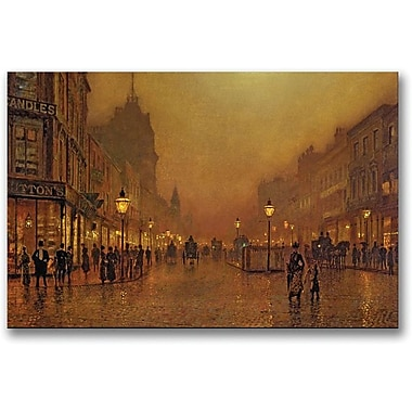 Trademark Global John Atkinson Grimshaw in.A Street at Nightin. Canvas Art, 16in. x 24in.