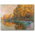 Trademark Global Gustave Loiseau in.A River in Autumnin. Canvas Arts