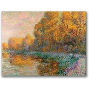 Trademark Global Gustave Loiseau in.A River in Autumnin. Canvas Art, 24in. x 32in.