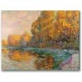 Trademark Global Gustave Loiseau in.A River in Autumnin. Canvas Art, 18in. x 24in.
