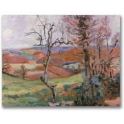 "Trademark Global Jean Baptiste ""The Puy Barion at Crozant"" Canvas Art, 24"" x 32"""