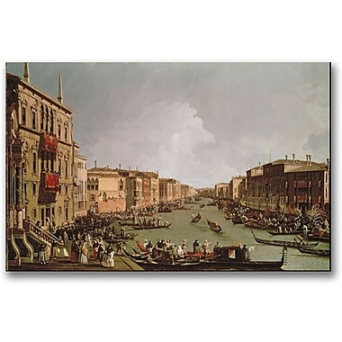 Trademark Global Canaletto in.A Regatta on the Grand Canalin. Canvas Art, 30in. x 47in.