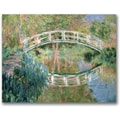 Trademark Global Claude Monet in.The Japanese Bridge Givernyin. Canvas Arts
