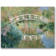 Trademark Global Claude Monet in.The Japanese Bridge Givernyin. Canvas Art, Impressionist style, 18in.x24in.