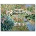 Trademark Global Claude Monet in.The Japanese Bridge Givernyin. Canvas Art, Impressionist style, 24in.x32in.
