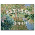 Trademark Global Claude Monet in.The Japanese Bridge Givernyin. Canvas Art, Impressionist style, 35in.x47in.