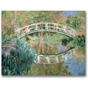 "Trademark Global Claude Monet ""The Japanese Bridge Giverny"" Canvas Art, Impressionist style, 35""x47"""