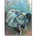 Trademark Global Edgar Degas in.Seated Dancerin. Canvas Arts