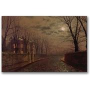 "Trademark Global John Atkinson Grimshaw ""Moonlit Street Scene"" Canvas Art, 16"" x 24"""