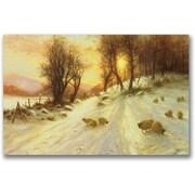 Trademark Global Joseph Farquharson Sheep in the Winter Canvas Art, 30 x 47