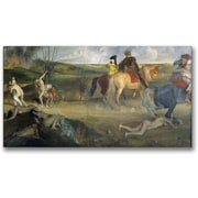 Trademark Global Edgar Degas Scene of War in the Middle Ages Canvas Art, 24 x 47