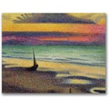 Trademark Global George Lemmen in.The Beach at Heistin. Canvas Arts