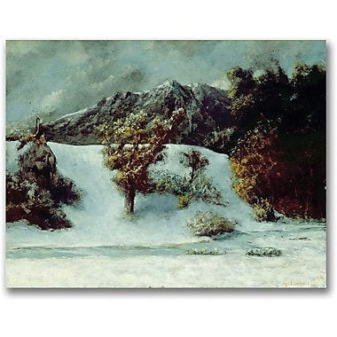 Trademark Global Gustave Courbet in.Winter Landscapein. Canvas Art, 24in. x 32in.
