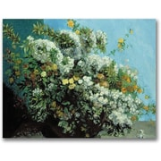 "Trademark Global Gustave Courbet ""Flowering Branches and Flowers"" Canvas Art, 35"" x 47"""
