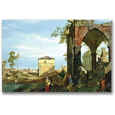 Trademark Global Canaletto in.Capriccio with Motifs from Paduain. Canvas Art, 16in. x 24in.