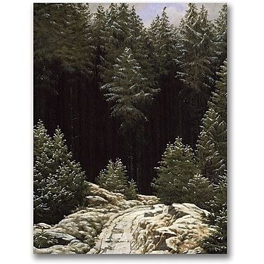 Trademark Global Caspar David Friedrich in.Early Snowin. Canvas Art, 24in. x 18in.