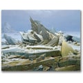 Trademark Global Caspar David Friedrich in.The Polar Seain. Canvas Arts
