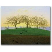 Trademark Global Caspar David Friedrich Hills and Ploughed Fields Canvas Art, 18 x 24