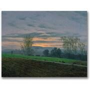 Trademark Global Caspar David Friedrich Ploughed Field Canvas Art, 18 x 24