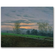 "Trademark Global Caspar David Friedrich ""Ploughed Field"" Canvas Art, 24"" x 32"""