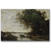 "Trademark Global Jean Baptiste Corot ""River Landscape"" Canvas Art, 30"" x 47"""