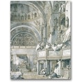 Trademark Global Canaletto in.The Choir Singing at St. Mark'sin. Canvas Arts