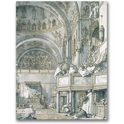Trademark Global Canaletto The Choir Singing at St. Mark's Canvas Art, 32 x 24