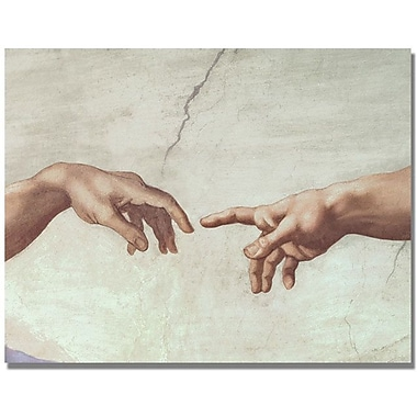 Trademark Global Michelangelo in.Hands of Godin. Canvas Arts