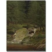 "Trademark Global Caspar David Friedrich ""Evergreens by the Waterfall"" Canvas Art, 47"" x 35"""