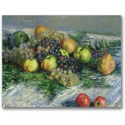 Trademark Global Claude Monet Still Life with Pears and Grapes Canvas Art, 18 x 24
