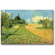 Trademark Global Alfred Sisley The Cornfield Canvas Art, 18 x 24