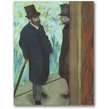 Trademark Global Edgar Degas in.Friends at the Theatrein. Canvas Art, 24in. x 18in.