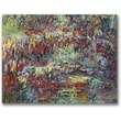 Trademark Global Claude Monet in.The Japanese Bridge Givernyin. Canvas Art, 18in. x 24in.