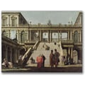 Trademark Global Canatello in.Castle Courtyard 1762in. Canvas Art, 35in. x 47in.