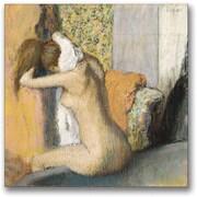 "Trademark Global Edgar Degas ""After The Bath, Woman Drying Neck"" Canvas Art, 24"" x 24"""