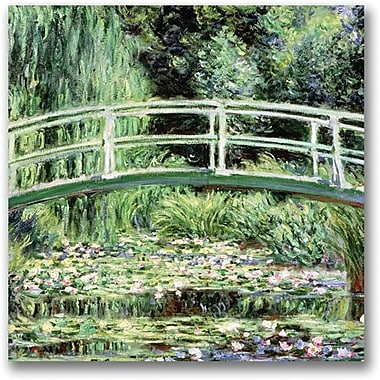 Trademark Global Claude Monet in.White Waterlillies 1889in. Canvas Arts