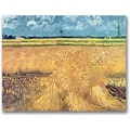 Trademark Global Vincent Van Gogh in.Wheatfield with Sheaves 1888in. Canvas Art, 35in. x 47in.