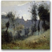 "Trademark Global Jean Baptiste Corot ""Canteleu near Rouen"" Canvas Art, 24"" x 24"""