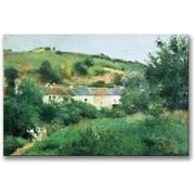 "Trademark Global Camille Pissarro ""The Path in the Village"" Canvas Art, 35"" x 47"""