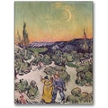Trademark Global Vincent Van Gogh in.Moonlit Landscape 1889in. Canvas Art, 24in. x 18in.