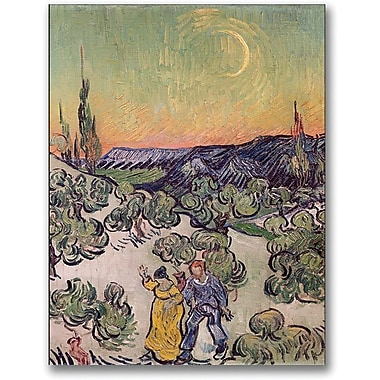 Trademark Global Vincent Van Gogh in.Moonlit Landscape 1889in. Canvas Arts