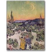 "Trademark Global Vincent Van Gogh ""Moonlit Landscape 1889"" Canvas Art, 47"" x 35"""