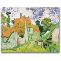 Trademark Global Vincent Van Gogh in.Street in Auvers-sur-Oisein. Canvas Art, 18in. x 24in.