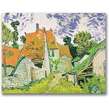 Trademark Global Vincent Van Gogh in.Street in Auvers-sur-Oisein. Canvas Arts