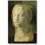 Trademark Global Edgar Degas Study of the Head of a Young Singer Canvas Art, 47 x 30