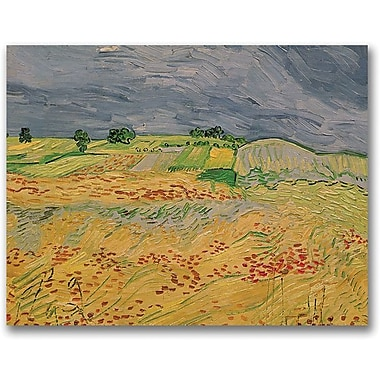 Trademark Global Vincent Van Gogh in.Plain At Auvers, 1890in. Canvas Arts